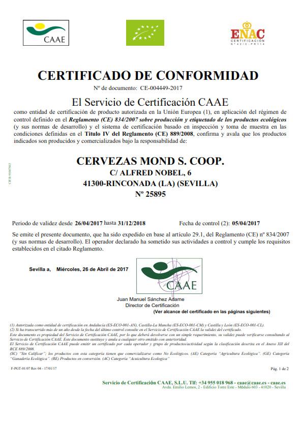 Certificado ECO-CAAE