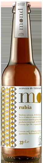 Cerveza Artesana MOND Rubia elaborada en Sevilla con ingredientes 100% naturales