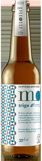Cerveza artesana MOND Trigo elaborada en Sevilla con ingredientes 100% naturales