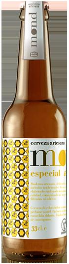 Cerveza artesana MOND Especial elaborada en Sevilla con un ligero toque a miel
